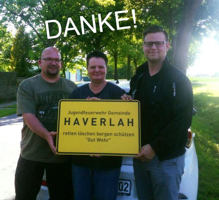 Überraschung für die Jugendfeuerwehr Gemeinde Haverlah!