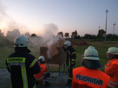 Wärmebildkamera in Dienst gestellt – Feuer und Flamme bei der praktischen Ausbildung